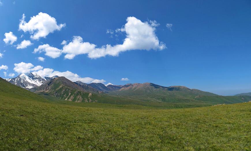 Переваливание холма из Среднего в в Правый Чемолган