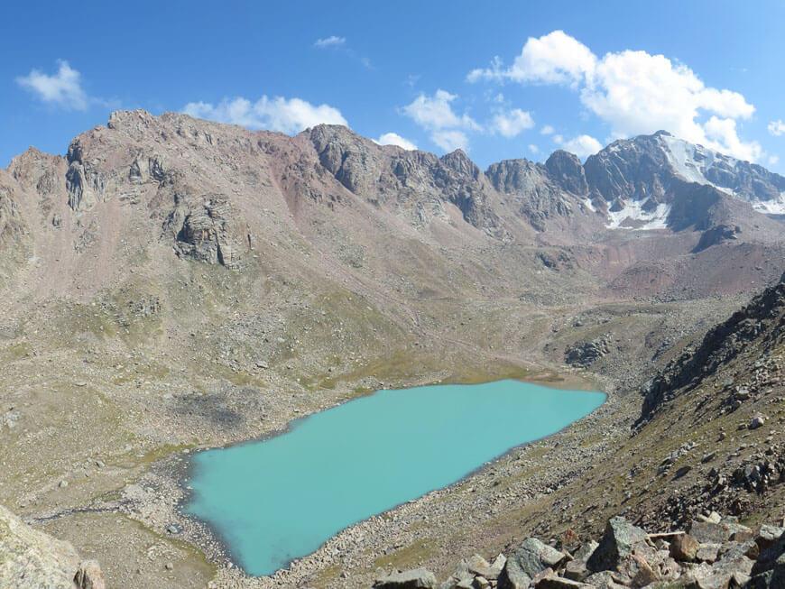 дальнее Казачье озеро с вершины 3450 м
