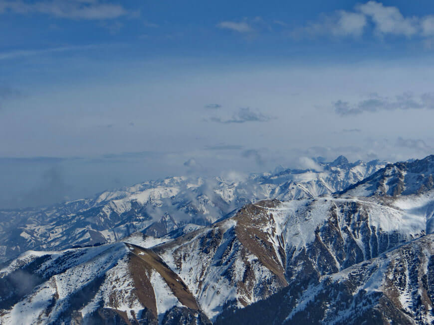 вид на горы Заилийского Алатау