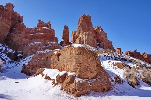 Чарынский каньон зимой, зимние туры на Чарын
