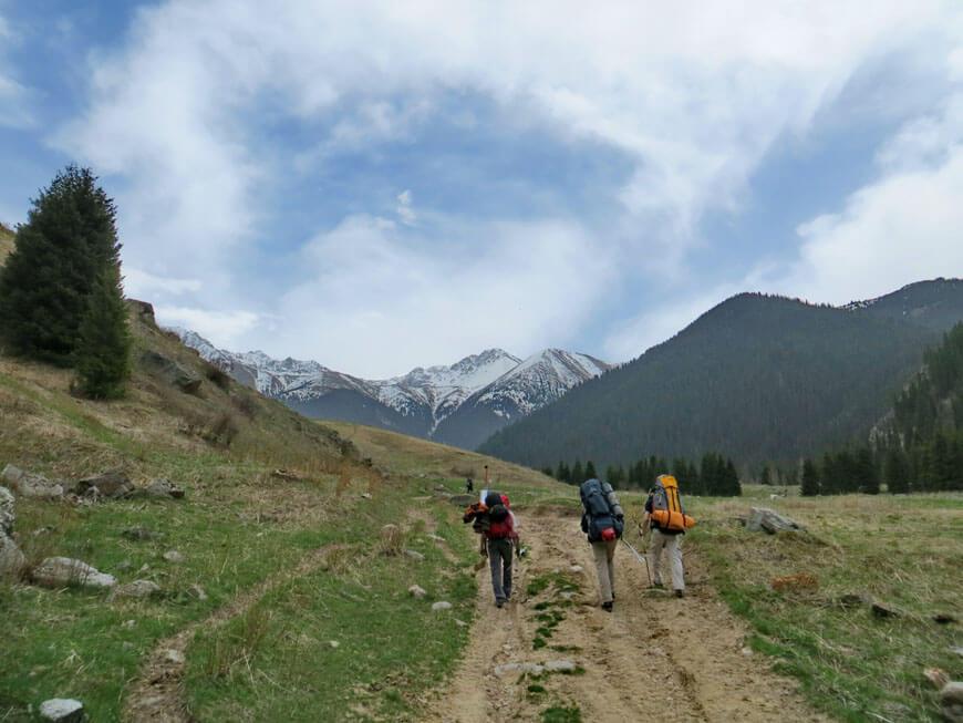 Каскеленское ущелье, поход в горы