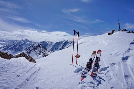 ski tour Almaty, Tourist peak