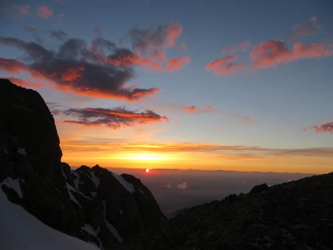 закат, горы Чимкента