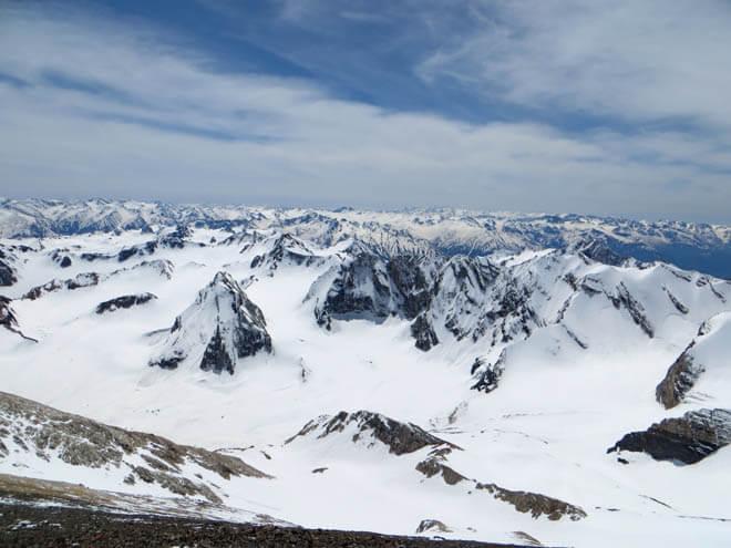 ледник Аютор. Угамский хребет