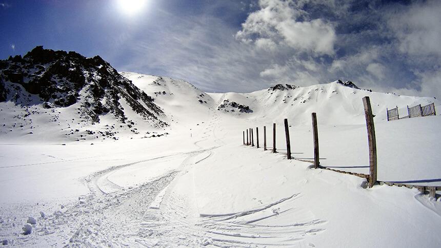 Космостанция красивые линии от лыж