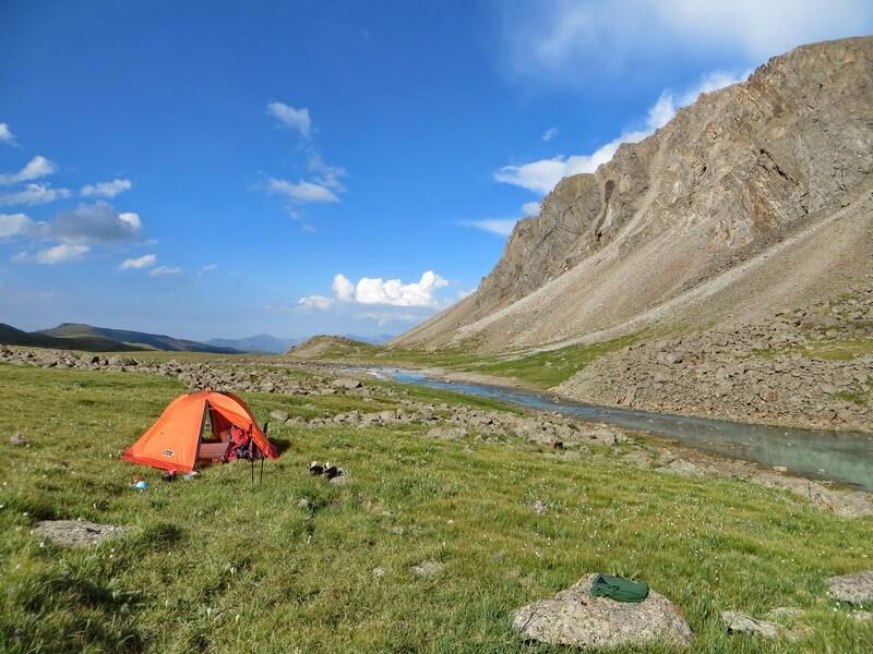 Лагерь в ущелье Тургень