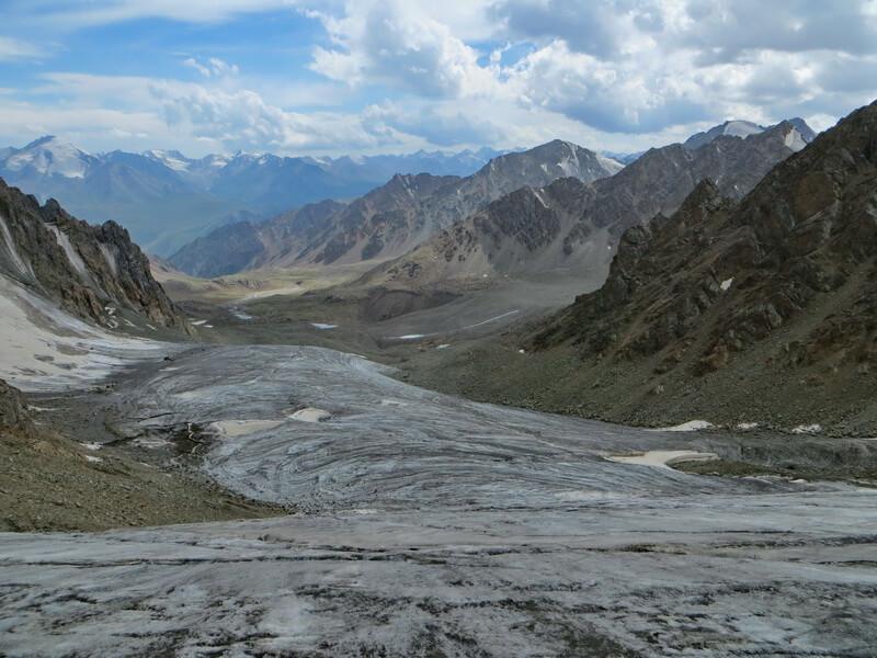 ледник №10, ущелье Желькарагай