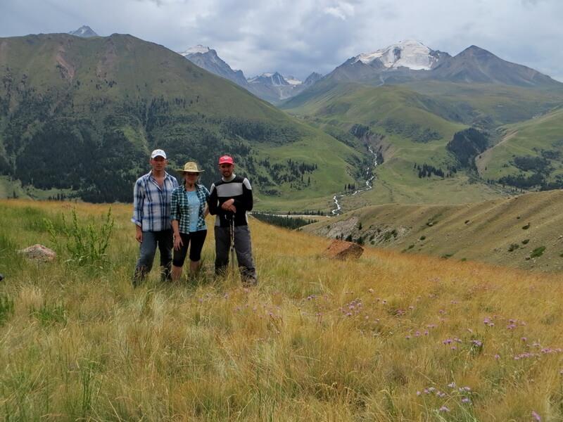 долина Чилик, слияние с рекой Желькарагай