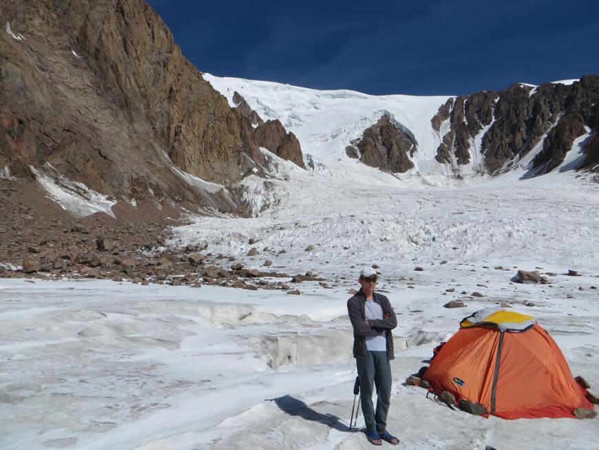 пик Талгар, ледник Корженевского
