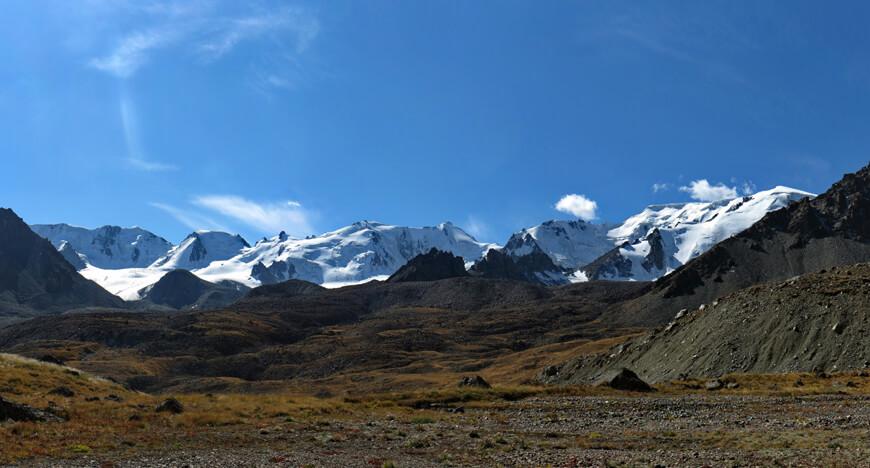 ледник Григорьева, ущелье Иссык