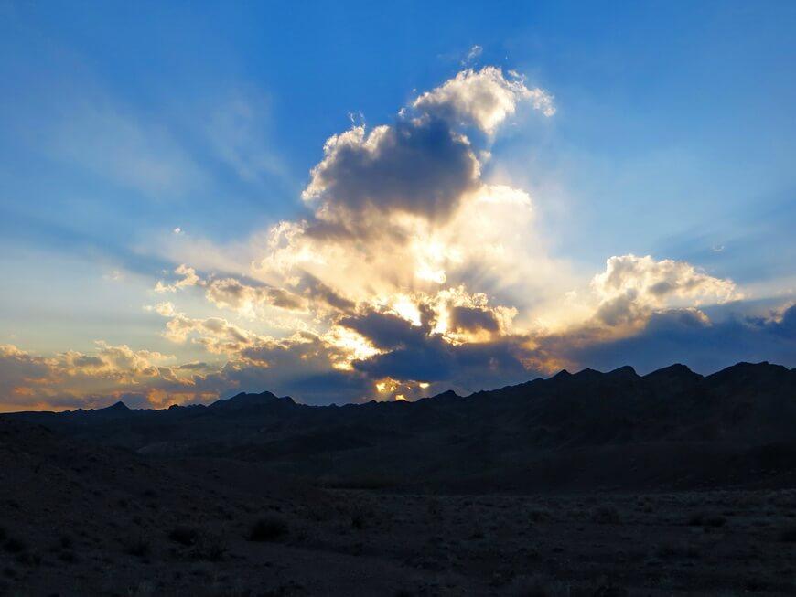 Закат над горами Атыжек
