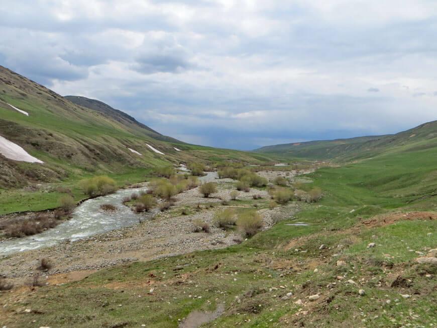 река Кескентерек, переправа