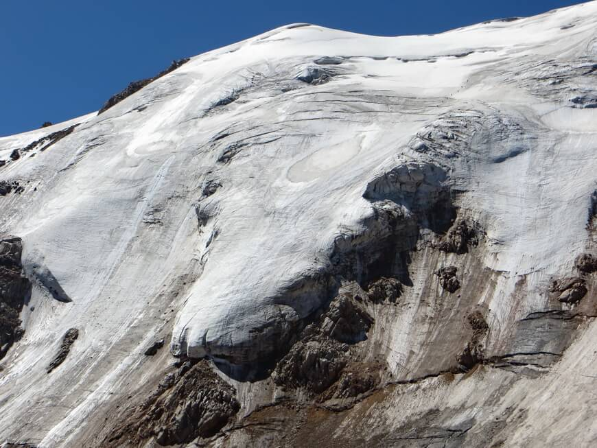 Снимок основной части маршрута по северному склону пика Молодежный - 3А к.с. Автор фотографии - Юрий Юшин.