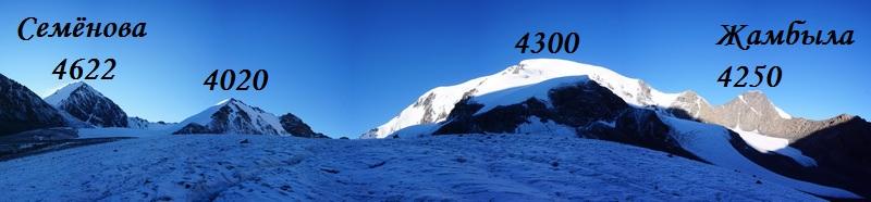 Джунгарский Алатау, ледник Жамбыла
