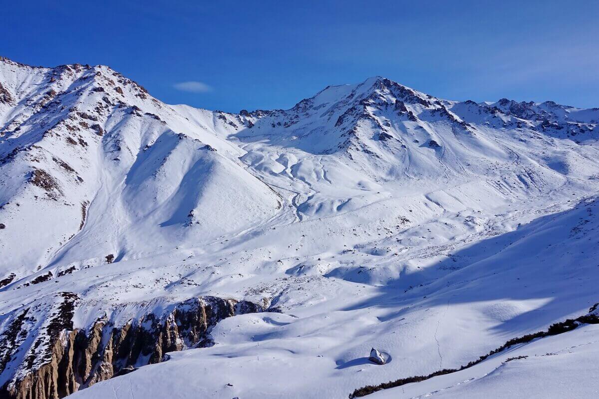 зимний поход алматы, ущелье Кумбельсу зимой
