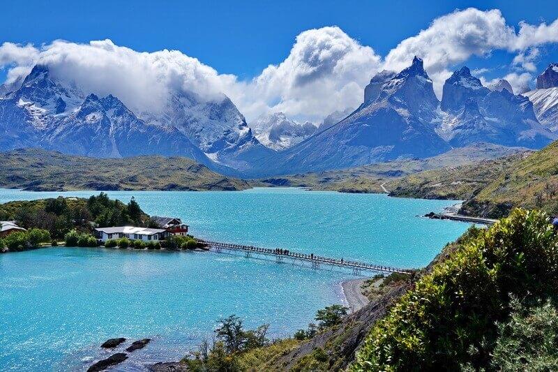 озеро Pehoe, Торрес дель Пайне, Патагония