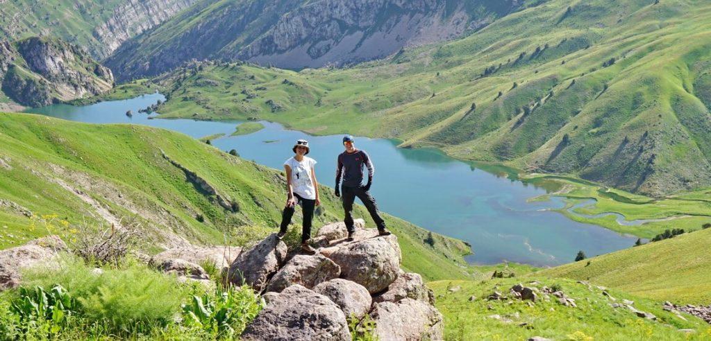 озеро Сусинген, поход в горах около Чимкента