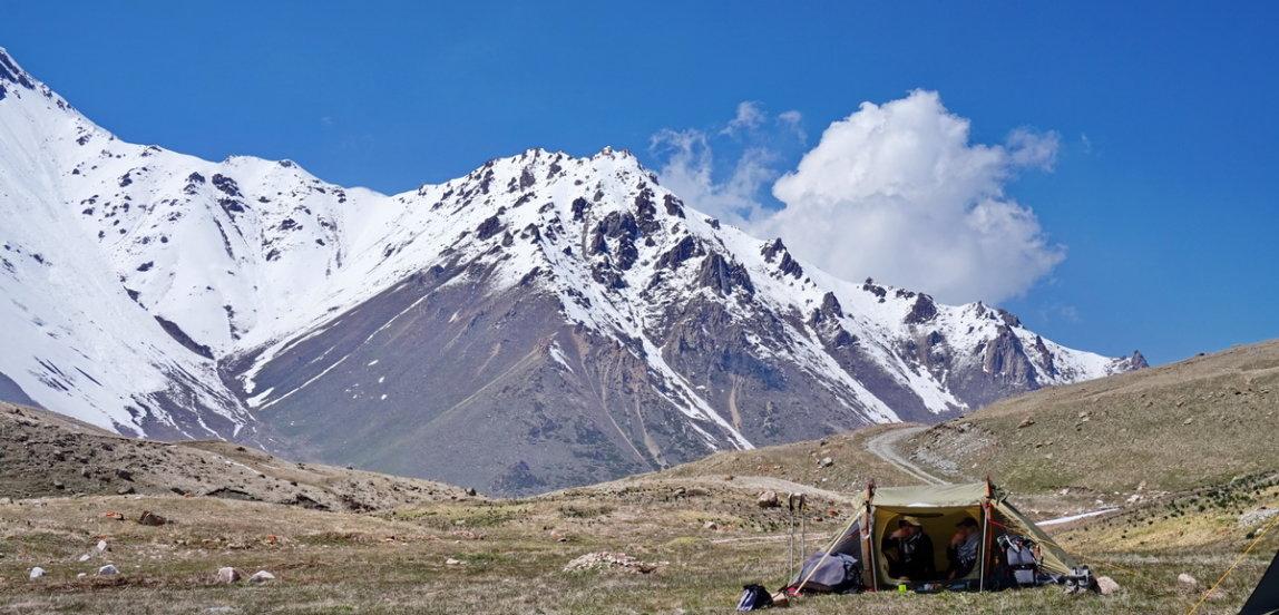 Sovetov peak climbing