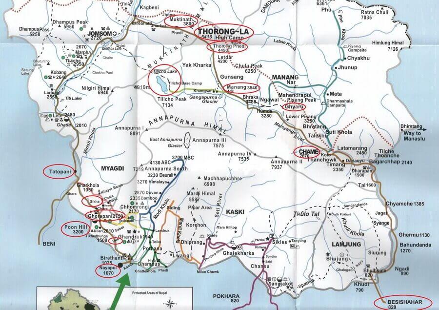 путешествие в Непал, маршрут на Пун Хилл, маршрут вокруг Аннапурны, маршрут на озеро Тиличо