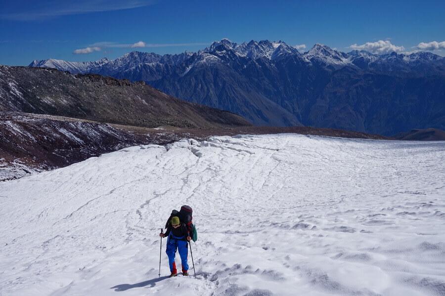 ледник Гергети, Кавказ, Грузия