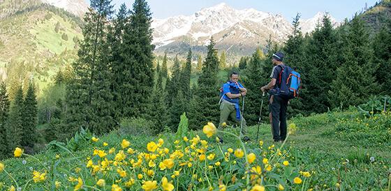 Hiking mountain Almaty