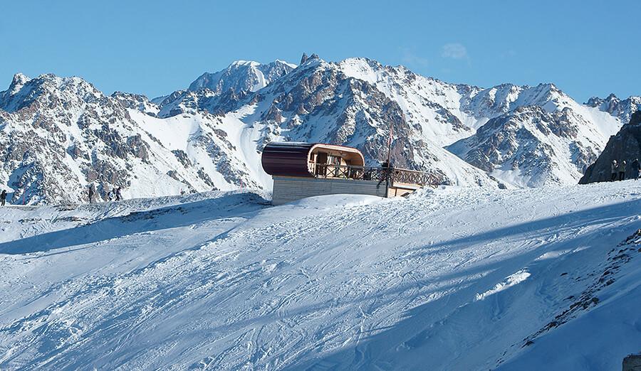 Зимний Талгарский перевал и пик Талгар