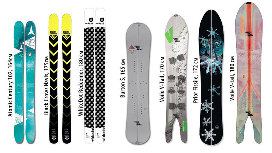Аренда сплитбордов и скитур лыж в Риддере